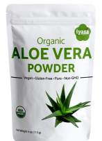 Organic Aloe Vera Leaf Powder, Trial Pack of 4 oz/112 gram, Aloe Barbadensis, Herbal Cosmetics, Natural Hair & Skincare, Moisturizer, Superfood ,Resealable Pouch (Trial Pack - 4oz)