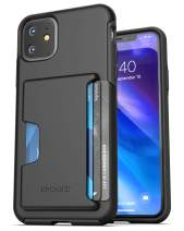Encased iPhone 11 Wallet Case (2019) Ultra Durable Cover with Card Holder Slot (4 Credit Cards Capacity) Black