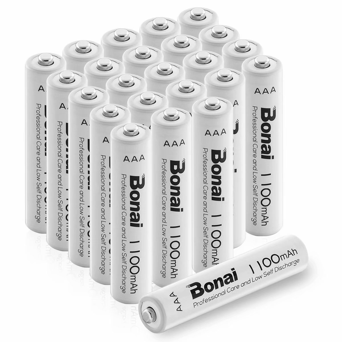 BONAI 1100mAh AAA Rechargeable Batteries 24 Pack,BONAI 1100mAh 1.2V Ni-MH Rechargeable AAA Batteries high Capacity - Triple a Batteries