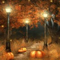 SKRYUIE 5D Full Drill Diamond Painting Halloween Pumpkin Lantern by Number Kits, Paint with Diamonds Arts Embroidery DIY Craft Set Arts Decorations (14x14 inch)