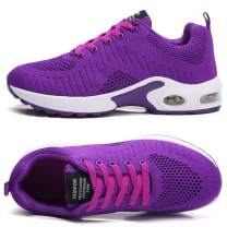 TSIODFO Women Sport Running Tennis Walking Shoes mesh Breathable Comfort Ladies Cushion Gym Athletic Jogging Sneakers Purple Size 8.5