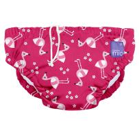 Bambino Mio, Reusable Swim Diaper, Medium (6-12 Months), Pink Flamingo