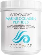 Codeage Marine Collagen Powder - Wild-Caught Hydrolyzed Fish Collagen Peptides - Type 1 & 3 Collagen Protein Supplement - Amino Acids for Skin, Hair, Nails - Paleo Friendly, Non-GMO, 15.87 Ounces
