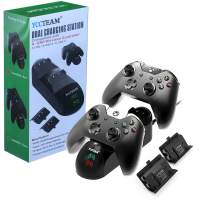 Xbox One Controller Charger, Xbox One/One S/One Elite Controller Charging Station with 2 Pack Xbox Rechargeable Battery for Xbox Wireless Controller Kit