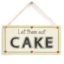 "Meijiafei Let Them eat Cake - Bakery Coffee Morning Cake Sign 10"" x 5"""