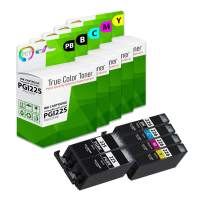 TCT Compatible Ink Cartridge Replacement for Canon PGI-225 CLI-226 Works with Canon Pixma MG5120 MG5220 Printers (Pigment Black, Black, Cyan, Magenta, Yellow) - 6 Pack