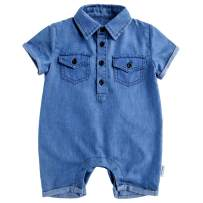 Y·J Back home Baby Boy Jeans Romper Infant Cotton-Denim Outfit