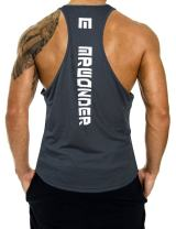 KUULEE Men's Casual Dry Fit Y-Back Muscle Tank Top Workout Gym Shirt