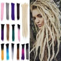 "20"" Dreadlock Extension Ombre For Hip-Hop Synthetic Heat Resistant Crochet Braiding Hair Handmade Reggae Extension Twist Braiding Hairpiece Box Braid For Man Women(5strands/1pack,ash blonde)"