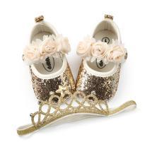 BENHERO Baby Infant Girls Soft Sole Floral Princess Mary Jane Shoes Prewalker Wedding Dress Shoes