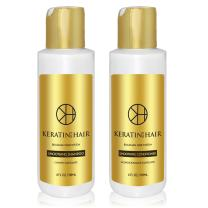 Keratin for Hair Shampoo Conditioner Complex Vitamins Argan Oil proteins collagen 4 Oz Sulfate Free for Hair Moisturizer Regrowth Repair Treatment prevent Loss Thinning Promote Growth (4 fl oz)