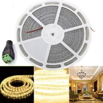 65.6 Ft LED Strip Light , EAGWELL SMD5050 1200 LED Light Strip Flexible Waterproof Strip Lighting for Cafe ,Holiday ,Wedding, Party -Warm White
