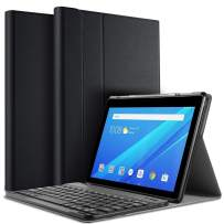 IVSO Case with Keyboard for Lenovo TAB E10, Wireless Keyboard Front Prop Stand Case/Cover Compatible with Lenovo TAB E10 2018 Released Tablet (Black)
