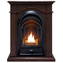 ProCom FS100T-CH Ventless Fireplace System 10K BTU Duel Fuel Thermostat Insert, and, Chocolate