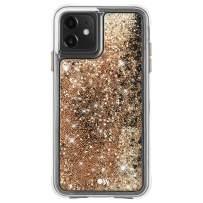 Case-Mate - iPhone 11 Glitter Case - Waterfall - 6.1 - Gold
