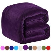 """Richave Polar Fleece Blankets King Size for The Bed Extra Soft Brush Fabric Super Warm Sofa Blanket 90"""" x 108""""(Purple King)"""