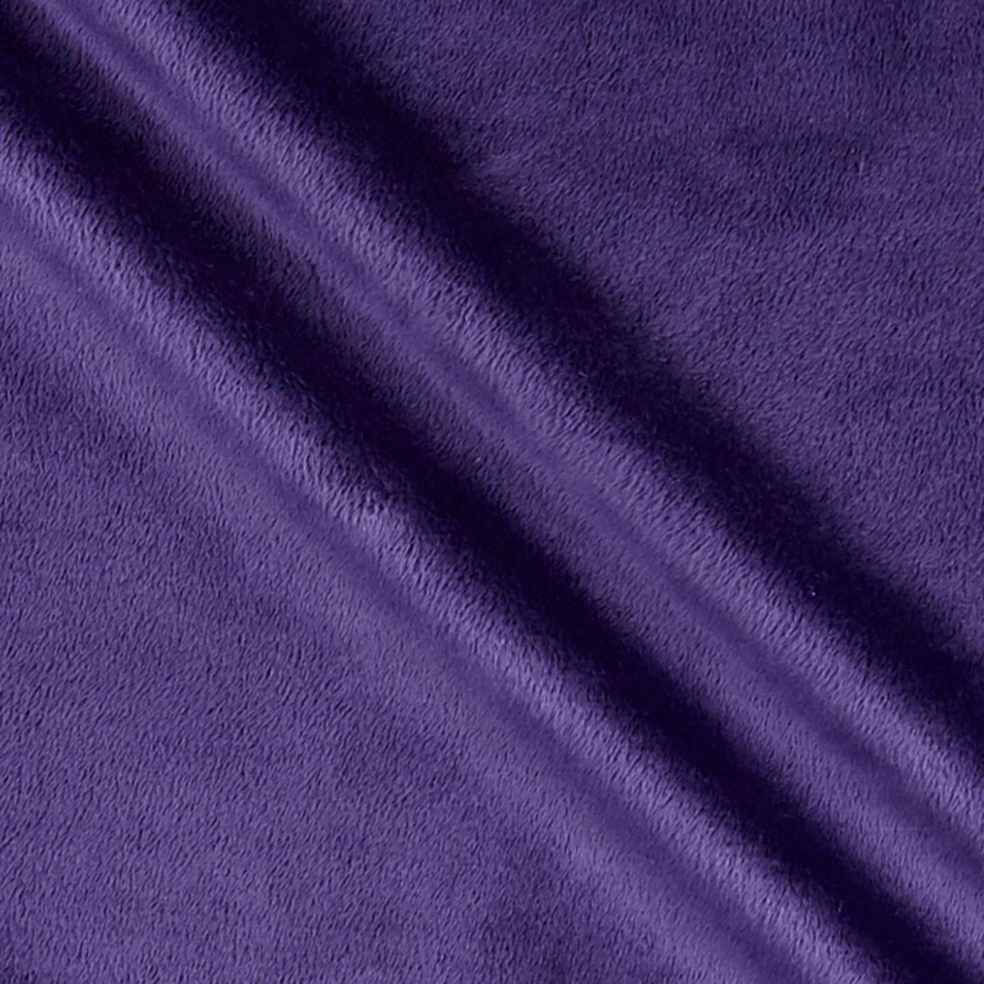 Shannon Fabrics Eggplant Shannon Minky Solid Cuddle 3 Extra Wide Fabric by The Yard