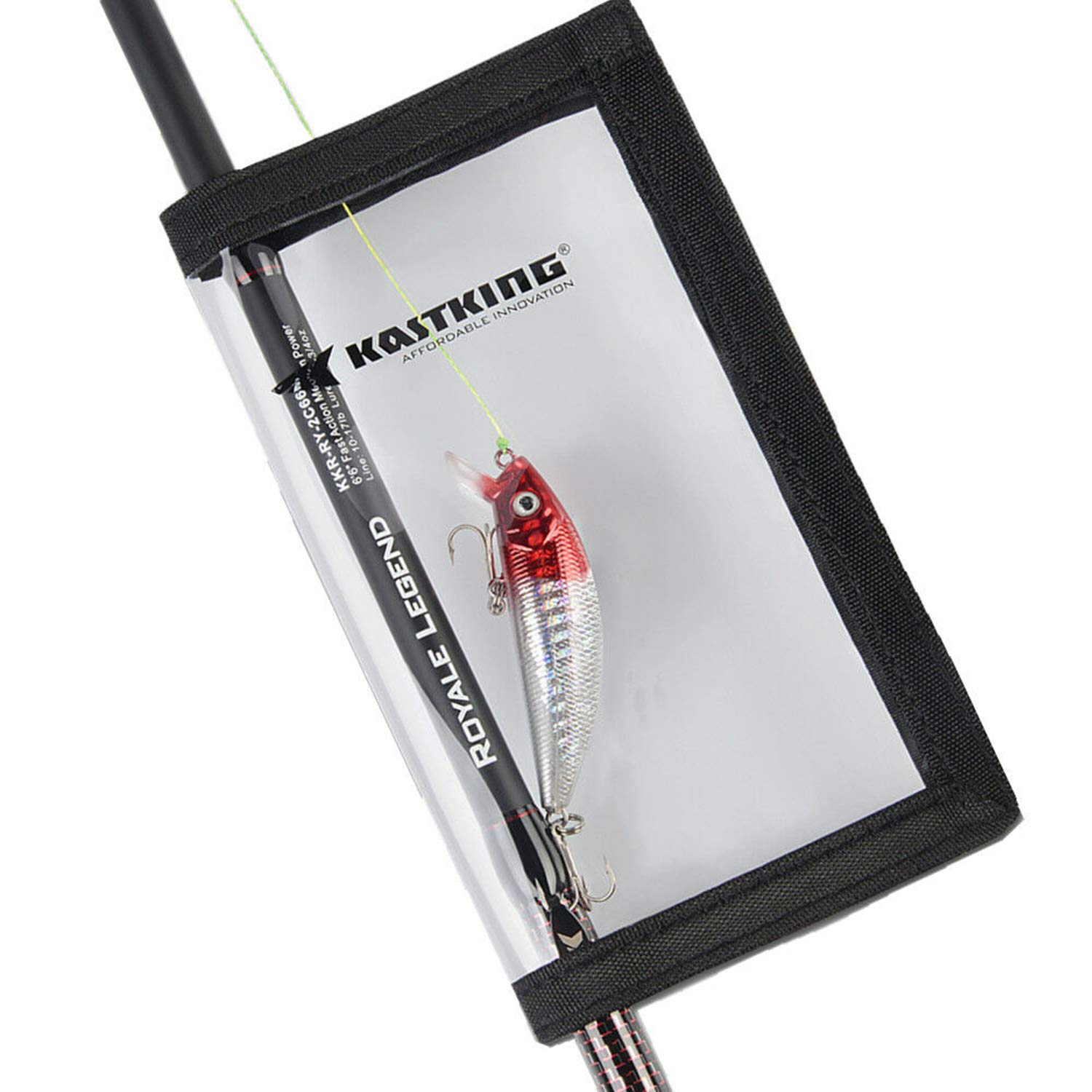 KastKing Fishing Lure Wraps, 4 Packs Lure Cover, Saltwater Resistant Fishing Gear, Fishing Hook Covers, Durable & Clear PVC Keeps Fishing Safe, Easily See Lures, Available in Two Sizes, Great Value