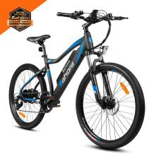 Eahora XC100 26 inch Electric Mountain Bicycle 7 Speed E-Bike 48V 10.4Ah Lithium Battery 350W Electric Bike Max 80 Miles Adult Assisted E-Bike E-PAS Tech