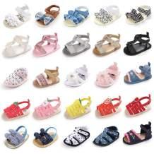 Babelvit Infant Baby Girls Soft Sole Summer Sparkle Sandals Flower Shoes Bowknot Candy Princess Dress Flats First Walker Crib Shoes