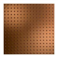 FASÄDE - Easy Installation Minidome Oil-Rubbed Bronze Lay in Ceiling Tile/Ceiling Panel (2' x 2' Tile)