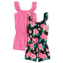 The Children's Place Baby Girls' Rompers, Pack of Two