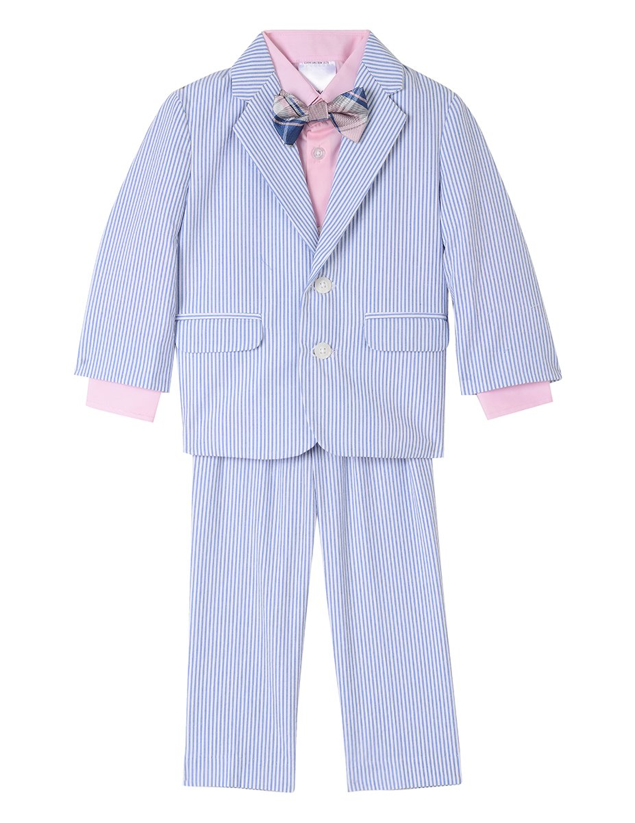 Nautica Baby Boys 4-Piece Suit Set with Dress Shirt, Jacket, Pants, and Bow Tie