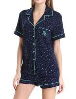 N NORA TWIPS Womens Pajamas Set Short Sleeve Button Down Nightwear Soft PJ XS-XL