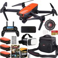 Autel Robotics EVO Drone Quadcopter On The Go Extended Warranty Bundle 4K Ultra HD Video and 3-Axis Gimbal 12MP Photo Camera with OLED Remote Control + FPV VR Goggle Headset + Triple Battery Kit