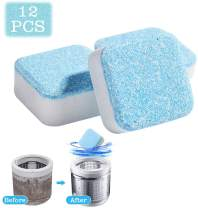 CHARMINER Washing Machine Cleaner, Solid Effervescent Tablets with Biological Formula, for Front and Top Load Washers