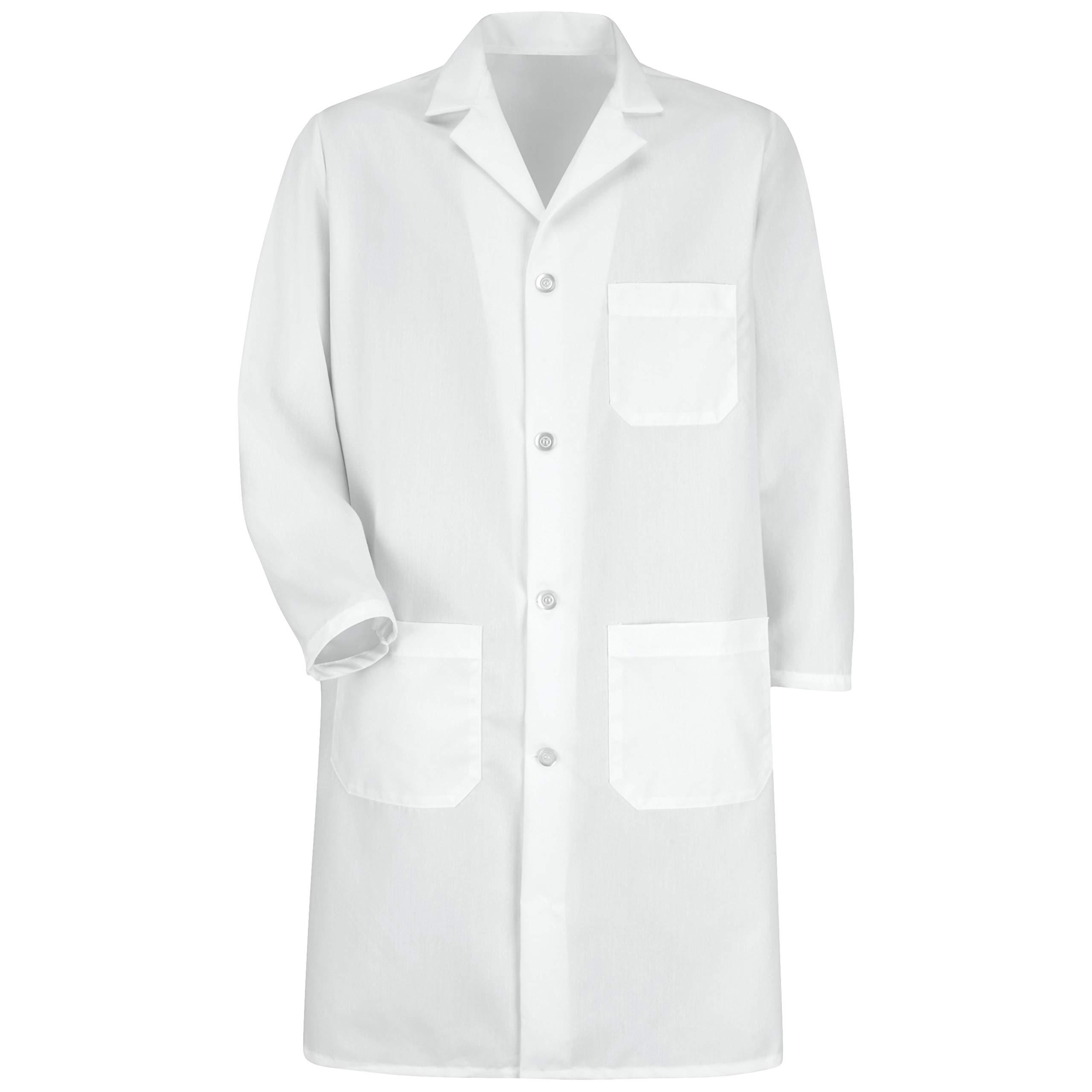 Red Kap Men's Exterior Pocket Lab Coat