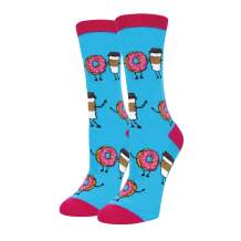 HAPPYPOP Funny Donut Cake Macaron Socks, Crazy Food Dessert Sock for Women Girls