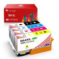 Toner Kingdom Compatible Ink Cartridge Replacement for HP 564XL for HP OfficeJet 4620 DeskJet 3520 3522 PhotoSmart 7510 7520 7525 5510 5514 5520 6520 Printer (4-Pack)