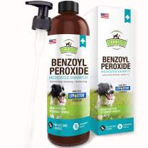 Benzoyl Peroxide Shampoo for Dogs, Cats, Sulfur - 16 oz - Medicated Dog Shampoo for Smelly Dogs, Anti Itch Dry Skin Allergy Treatment, Folliculitis, Seborrhea, Dermatitis, Dandruff, Infection, Mange