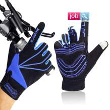Achiou Bike Gloves for Men and Women Full Finger Bicycle Cycling Motorcycle Mountain Bike Racing Touchscreen Anti-Skid Cushion