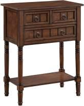 Convenience Concepts Kendra Hall Table, Dark Oak