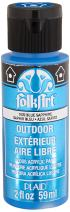 FolkArt Outdoor Acrylic Paint in Assorted Colors (2 Ounce), 1609 Metallic Blue Sapphire