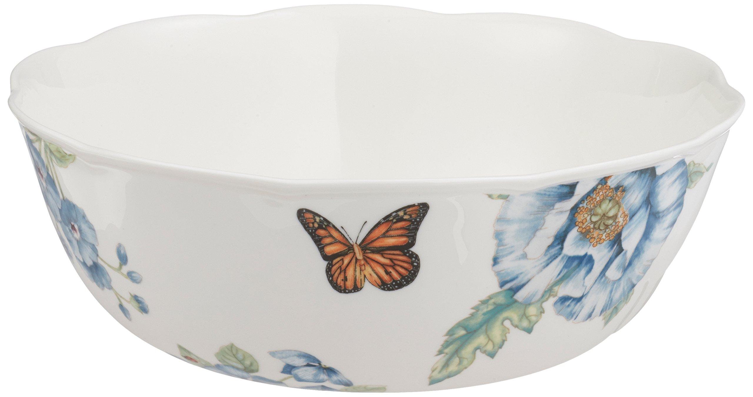Lenox Butterfly Meadow Blue Serving Bowl