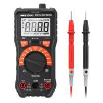 Meterk Digital Clamp Meter 6000 Counts TRUE RMS NCV AC/DC Voltage Auto Range AC Current Clamp Multimeter Capacitance Resistance Frequency Temperature Measure (Black Digital Clamp Meter)