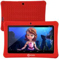 "[Upgraded] Contixo K1 HD 7"" 6.0 Android Tablet for Kids, Bluetooth WiFi Dual Camera Parental Controls for Children with Durable Protection Case, Pre-Installed Learning Games & Education Apps - Red"