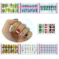 Chritmas Nail Sticker, Nail Beauty Stickers Water-Slide, Chritmas Nail Art Water Transfer Decals, Non-Toxic Temporary Nail Vinyls Stickers, 7 sheets 2017 Christmas Gift, Perfect Dress up for Nails