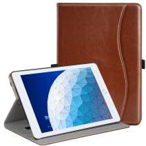 "Ztotop Case for iPad Air 10.5"" (3rd Gen) 2019/iPad Pro 10.5"" 2017, Premium Leather Business Slim Folding Stand Folio Cover for New iPad Tablet with Auto Wake/Sleep, Multiple Viewing Angles,Brown"