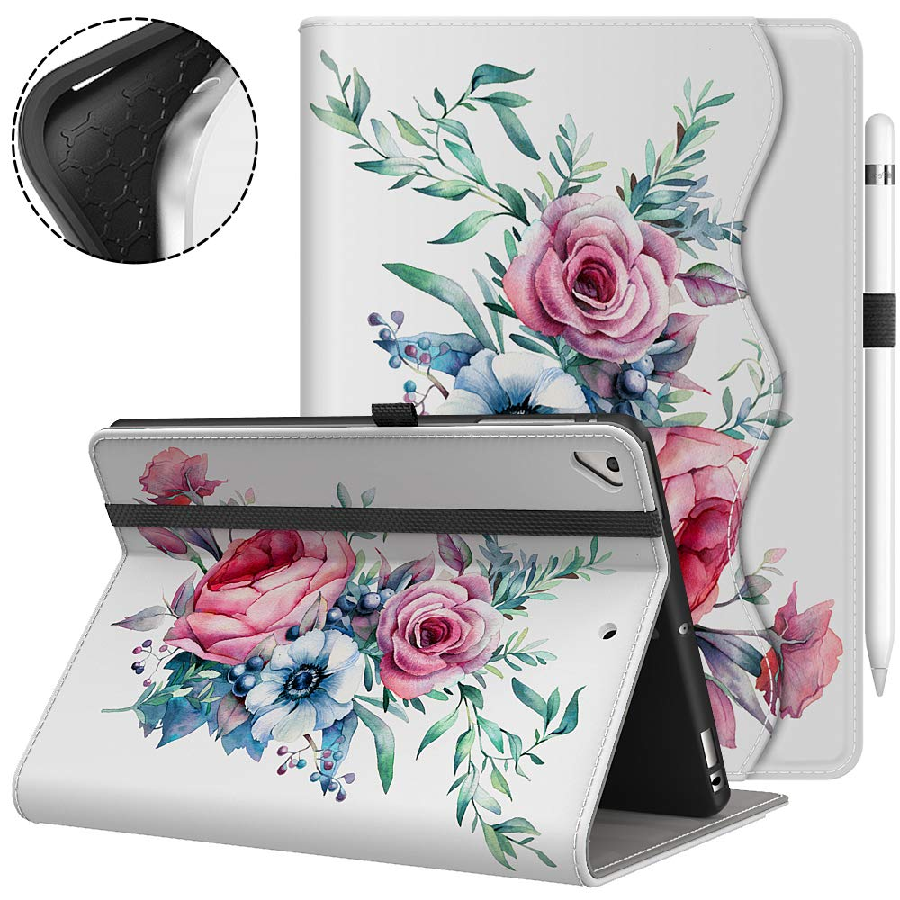 Vori iPad 9.7 2018/2017 (6th/5th Generation) Case - Multiple Viewing Angles iPad 6th Generation Covers Fit iPad Air 2 / iPad Air (Peony)