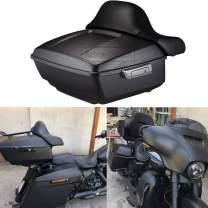 Advanblack Denim/Matte Black King Tour Pack 2014 Tour Pak Fit for Harley Touring Street Glide Road Glide Special Road King Ultra Classic Electra Glide 2014-2020
