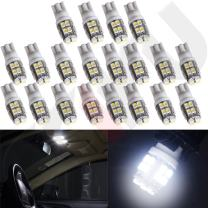 cciyu 20 Pack T10 W5W 2825 192 194 168 501 Car White 20 SMD LED Side Wedge Light Bulb 12V Fit Replacement fit for 2015 Jeep Cherokee Grand Cherokee 2015 Honda Accord Civic Pilot (20pack)