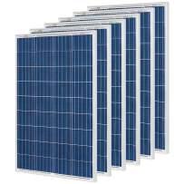 RICH SOLAR 6 Pieces 100 Watt 12 Volt Polycrystalline Solar Panel High Efficiency Solar Module Charge Battery for RV Trailer Camper Marine Off Grid