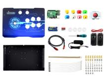 Waveshare Arcade-C-1P1 Player Arcade Console Powered by Raspberry Pi 3B+ Durable Joystick and Colorful Buttons Supports RetroPie Gaming System and KODI Home Media Center.