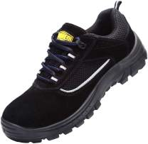LARNMERN Steel Toe Shoes, Men Work Safety Sneakers SRC Construction Shoe L8082