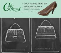 Cybrtrayd D111AB 3D Purse Chocolate Candy Mold Bundle with 2 Molds and Exclusive Cybrtrayd Copyrighted 3D Chocolate Molding Instructions