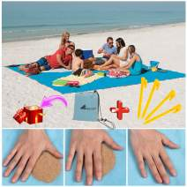 ABETER Sand Free Beach Mat Blanket Sand Proof Magic Sandless Sand Dirt & Dust Disappear Fast Dry Easy to Clean Waterproof Rug Avoid Sand Dirt and Grass Keep Everything Clean